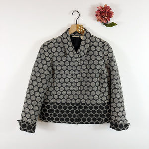 [CHICO'S] Cropped Snap Up Jacket Blazer